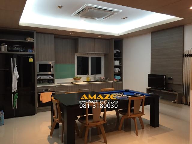 โต๊ะพูลโต๊ะกินข้าว DiningPool ใช้งานได้จริง กินข้าวและเล่นพูล 081-3180030 Line : amazepool